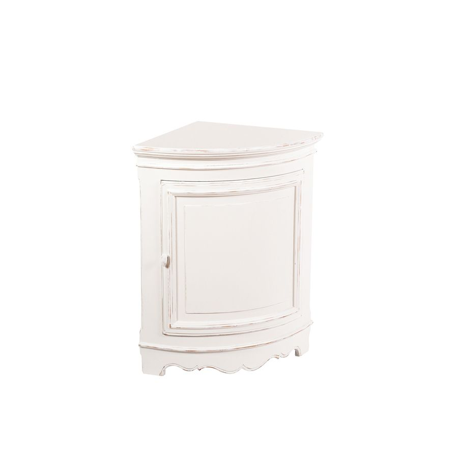 Encoignure basse blanc interior 39 s for Encoignure meuble