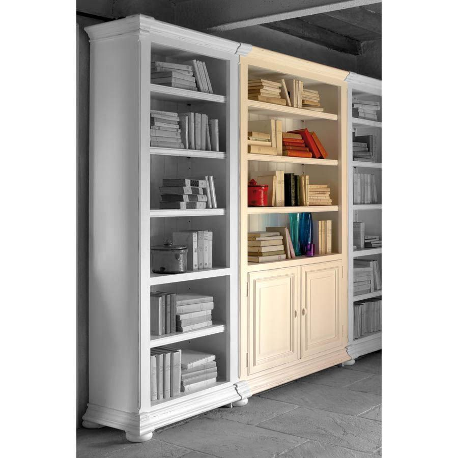 biblioth que modulable 2 portes blanc interior 39 s. Black Bedroom Furniture Sets. Home Design Ideas