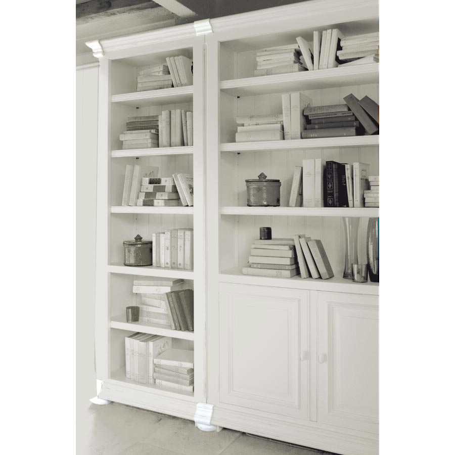 set de finition pour biblioth ques assemblables blanc interior 39 s. Black Bedroom Furniture Sets. Home Design Ideas
