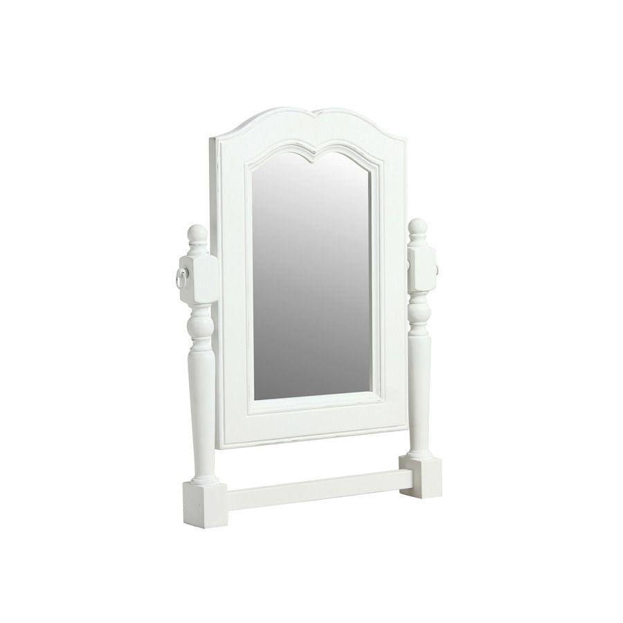 Miroir pivotant rectangulaire blanc interior 39 s for Miroir rectangulaire blanc