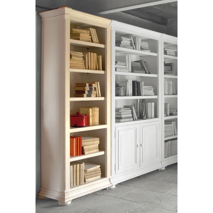 biblioth que modulable ouverte 70 cm blanc interior 39 s. Black Bedroom Furniture Sets. Home Design Ideas