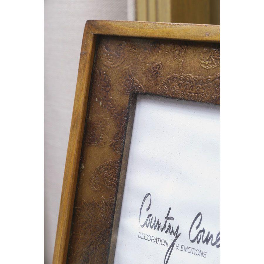 cadre photo en bois naturel marron interior 39 s. Black Bedroom Furniture Sets. Home Design Ideas