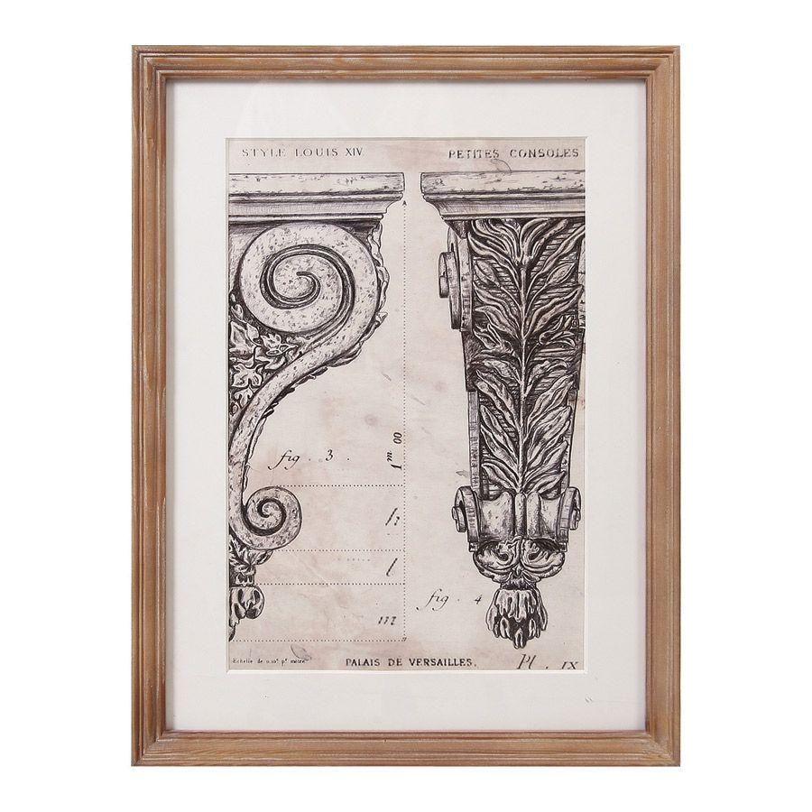 tableau en bois avec gravure colonnes naturel interior 39 s. Black Bedroom Furniture Sets. Home Design Ideas