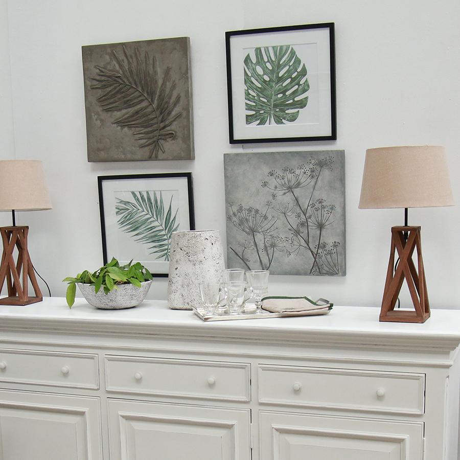 panneau d coratif en r sine effet ciment foug re beige. Black Bedroom Furniture Sets. Home Design Ideas
