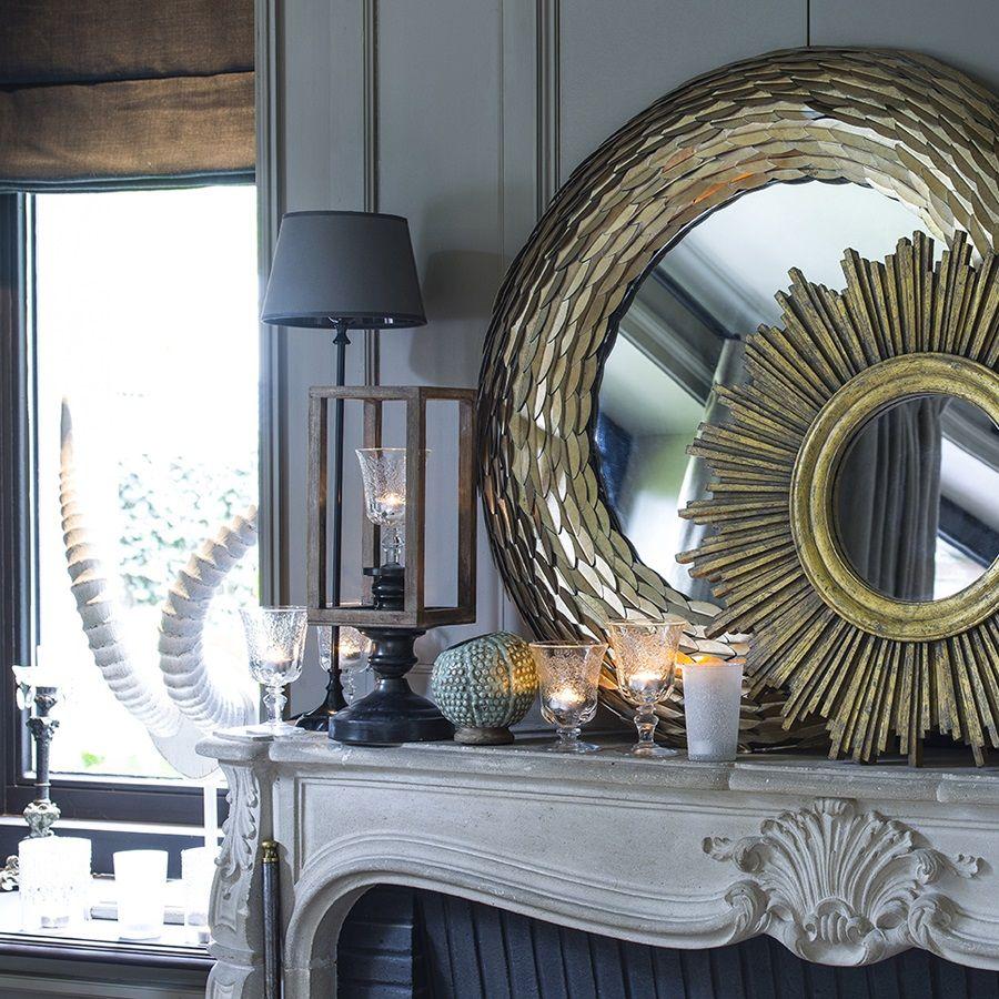 Miroir rond dor soleil jaune interior 39 s - Miroir rond dore ...
