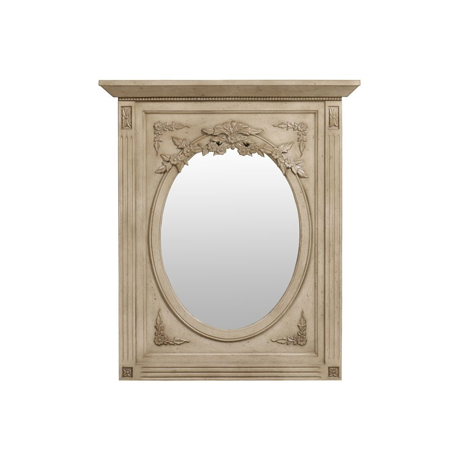 Miroir trumeau ovale beige interior 39 s for Miroir trumeau