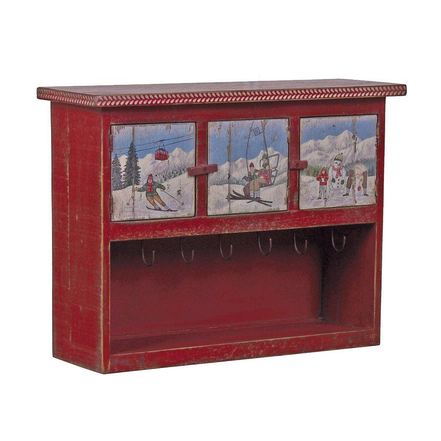 Petit meuble tag re en bois rouge interior 39 s - Petit meuble etagere ...