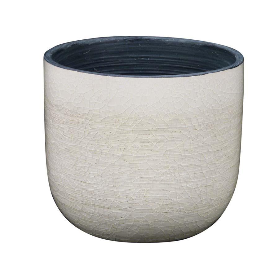 Cache pot en c ramique blanc interior 39 s for Pot ceramique exterieur