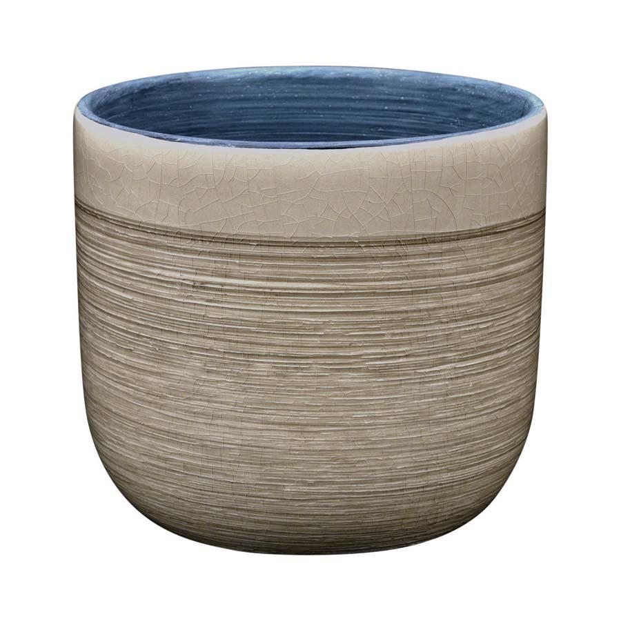 Cache pot en c ramique marron interior 39 s for Pot ceramique exterieur