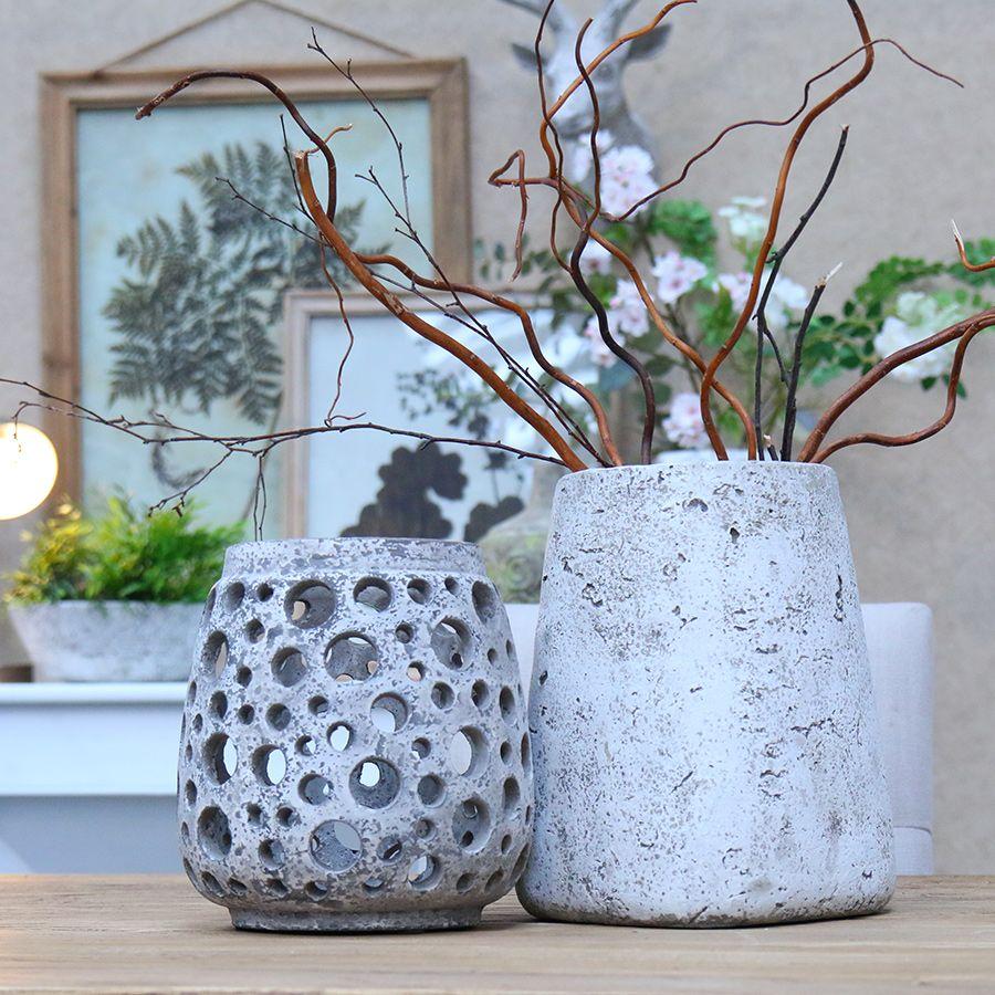 photophore en ciment gris gris interior 39 s. Black Bedroom Furniture Sets. Home Design Ideas