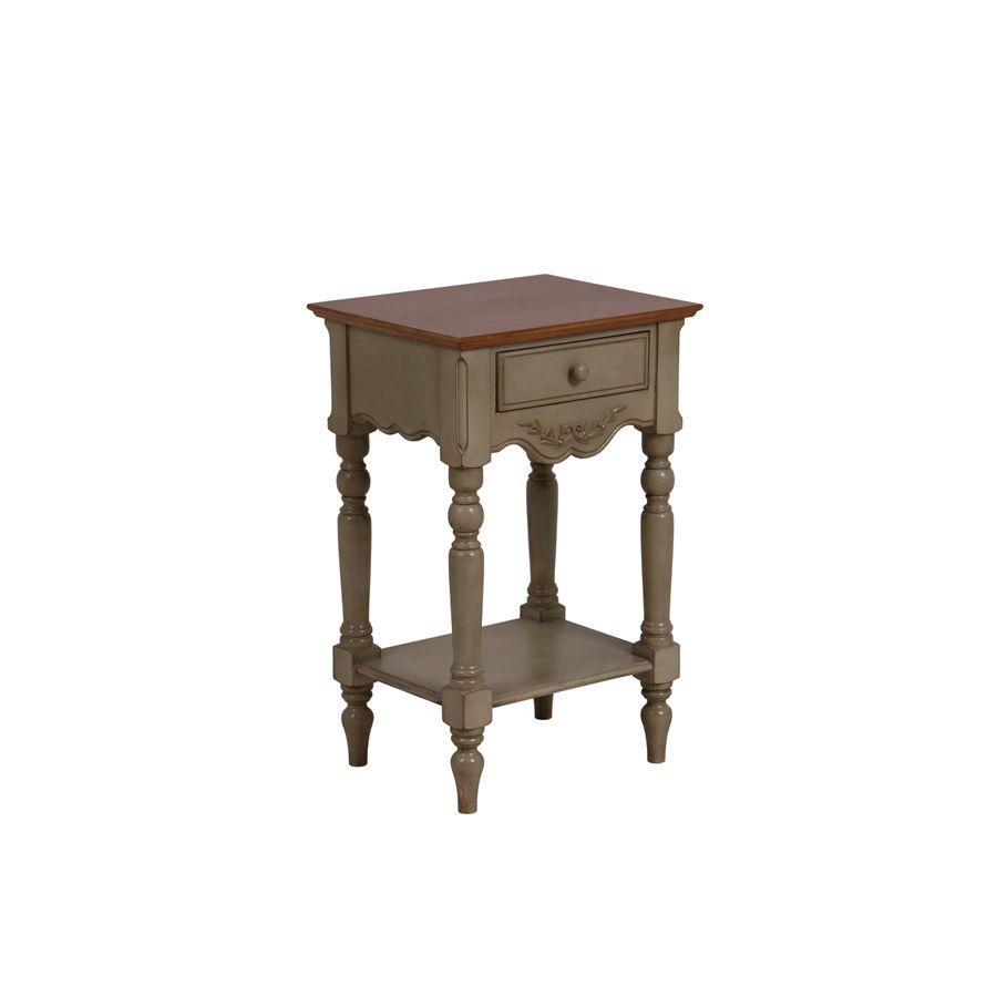 table de chevet 1 tiroir marron interior 39 s. Black Bedroom Furniture Sets. Home Design Ideas