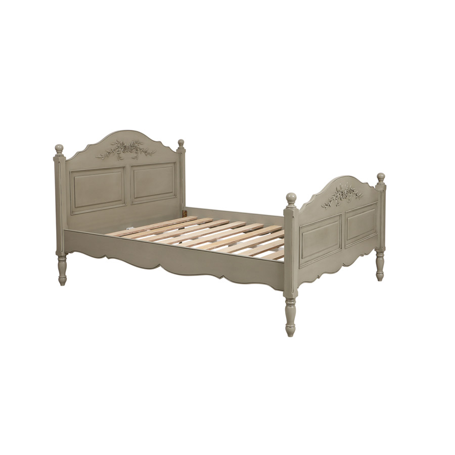 lit 140x190 cm avec sommier lattes gris interior 39 s. Black Bedroom Furniture Sets. Home Design Ideas