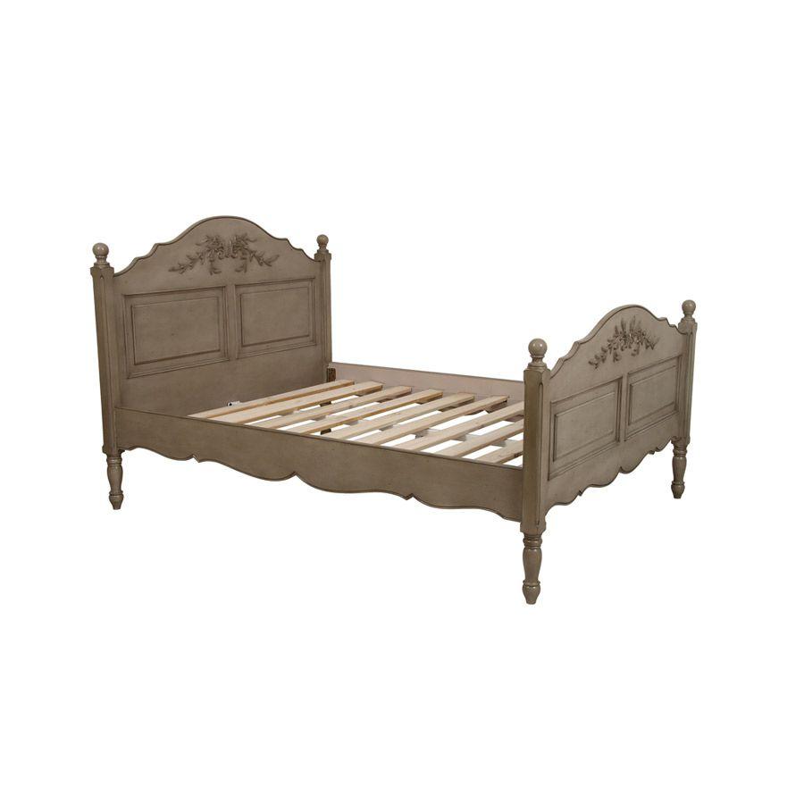 lit 140x190 cm avec sommier lattes marron interior 39 s. Black Bedroom Furniture Sets. Home Design Ideas