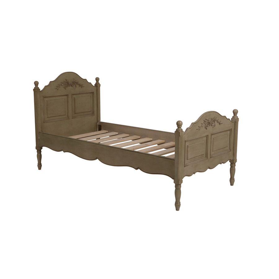 lit 1 personne 90x190 cm marron interior 39 s. Black Bedroom Furniture Sets. Home Design Ideas