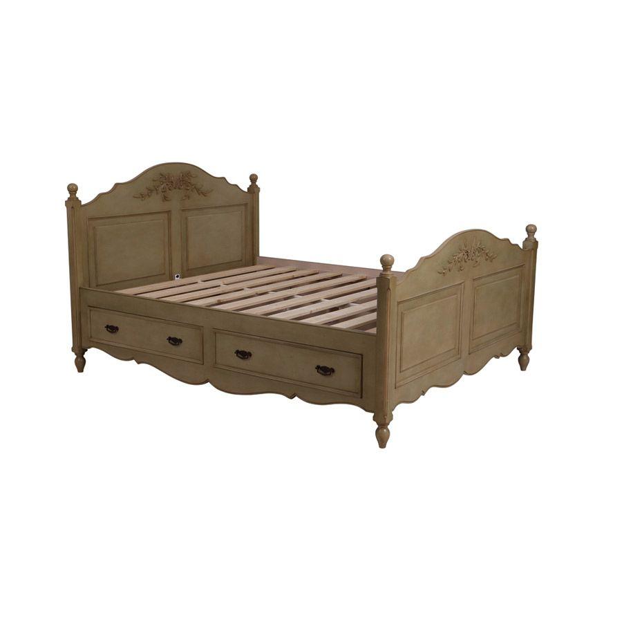 Lit tiroirs 2 personnes 160x200 cm marron interior 39 s - Lit 2 personnes 160x200 ...
