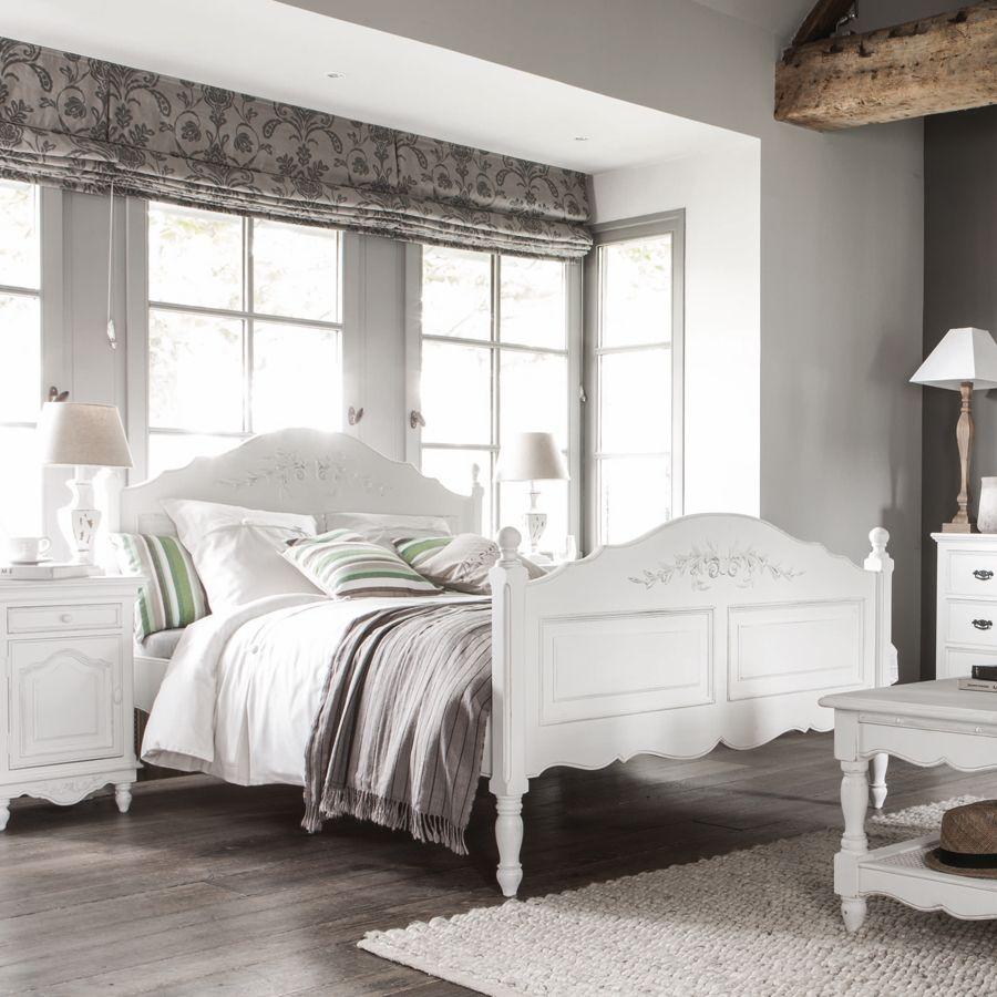 lit tiroirs 140x190 cm avec sommier lattes blanc. Black Bedroom Furniture Sets. Home Design Ideas