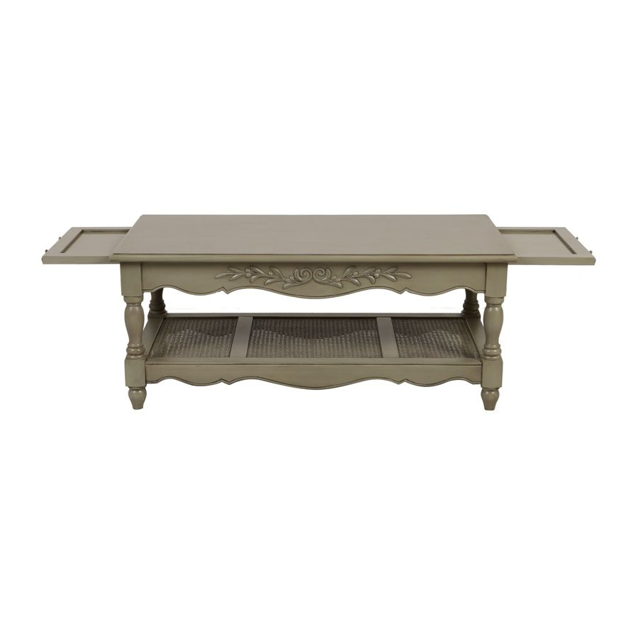 Table basse rectangulaire 2 tirettes