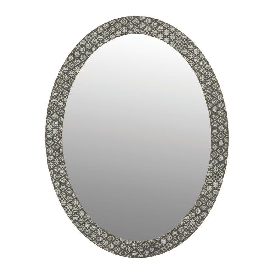 Miroir ovale motifs autre interior 39 s for Dans un miroir obscur
