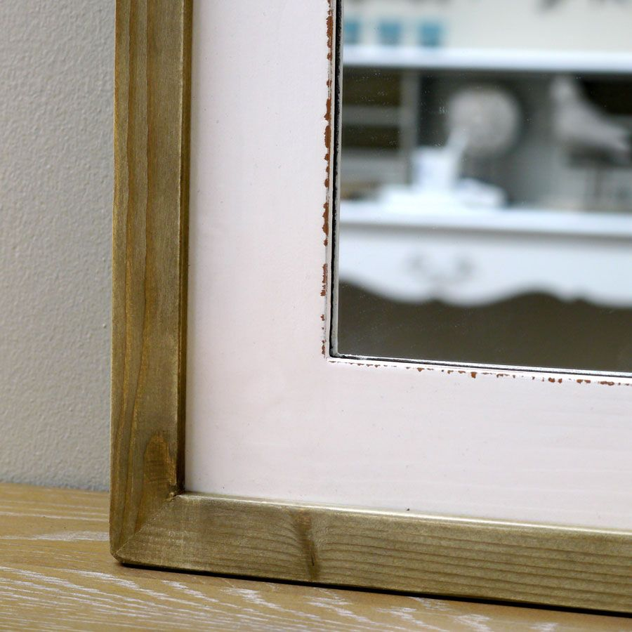 Miroir rectangulaire blanc blanc interior 39 s for Miroir salon rectangulaire