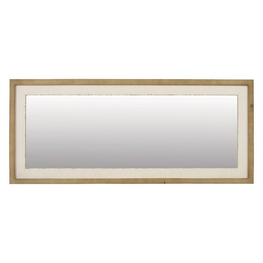 Miroir rectangulaire blanc blanc interior 39 s - Grand miroir rectangulaire design ...