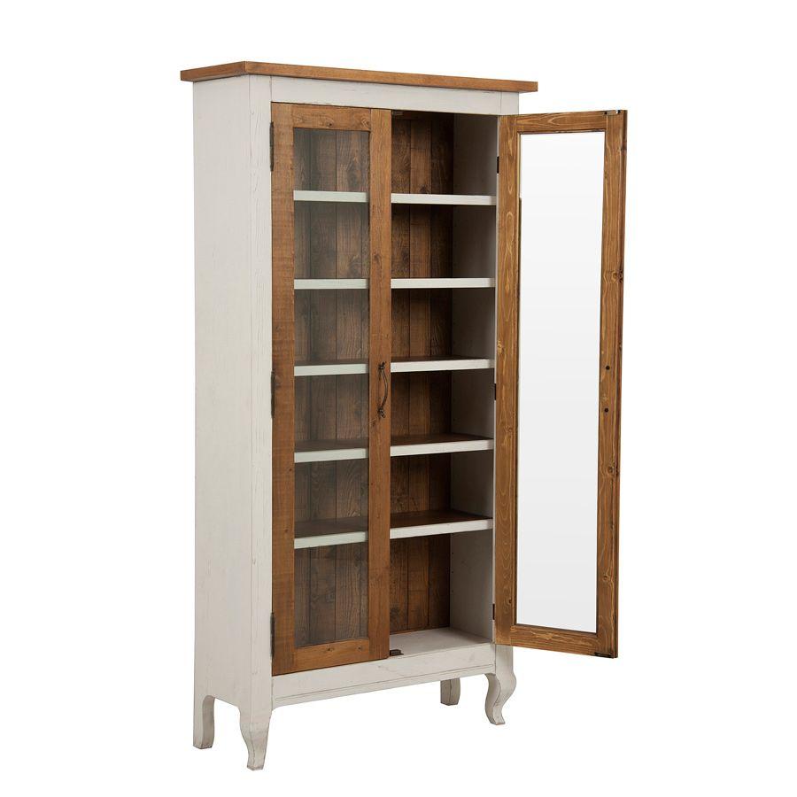 vitrine 2 portes blanc interior 39 s. Black Bedroom Furniture Sets. Home Design Ideas
