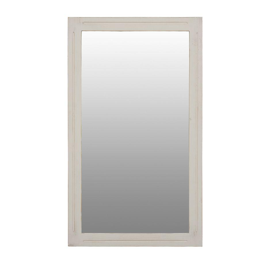 Miroir rectangulaire blanc Blanc Interior s