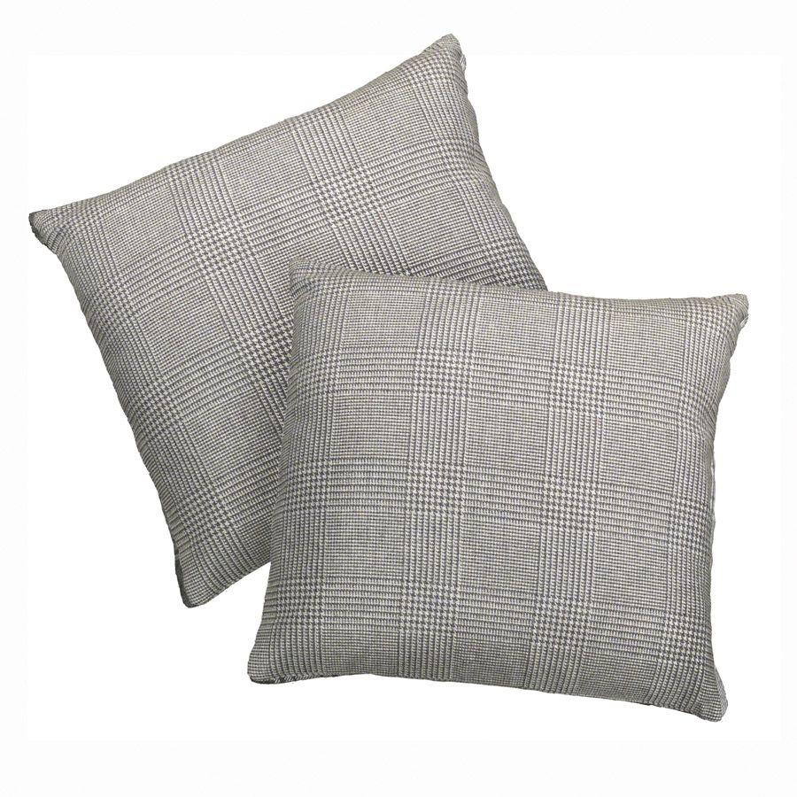 Housses de coussins en coton 40x40 lot de 2 gris for Housses de coussin 40x40