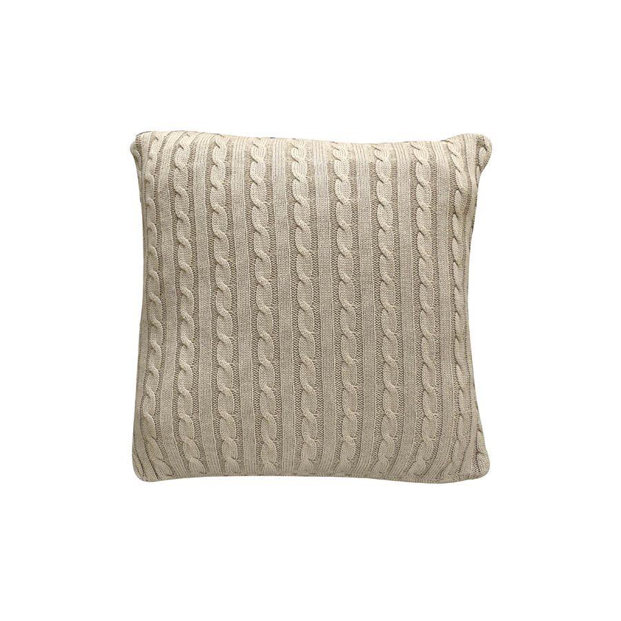 housse de coussin en coton 40x40 beige interior 39 s. Black Bedroom Furniture Sets. Home Design Ideas