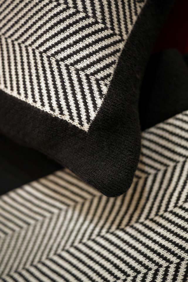 plaid en coton 130x170 noir interior 39 s. Black Bedroom Furniture Sets. Home Design Ideas