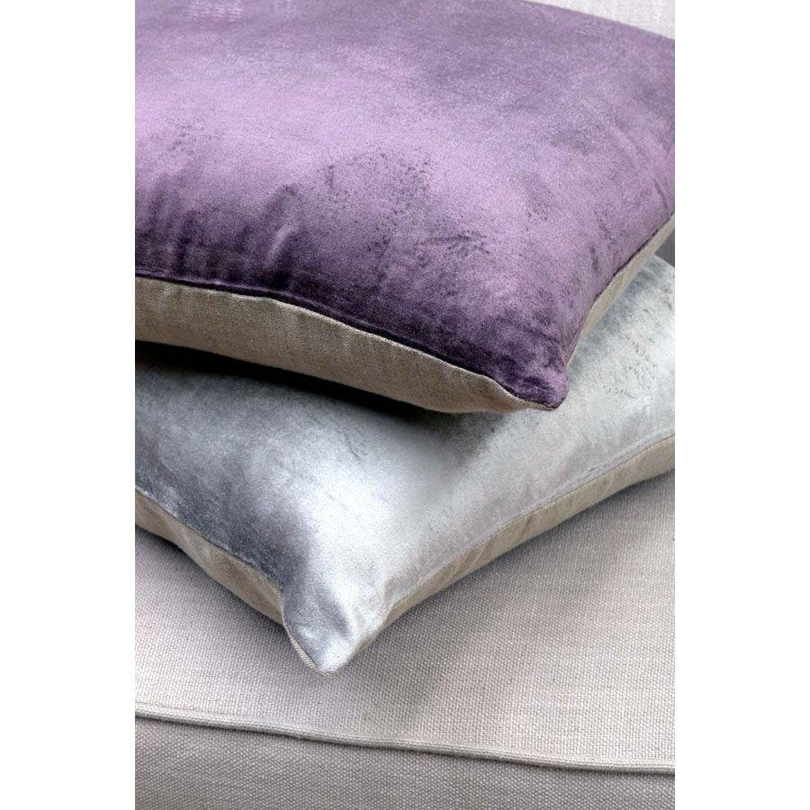 Housse de coussin en lin et viscose 40x40 violet for Housse coussin 40x40