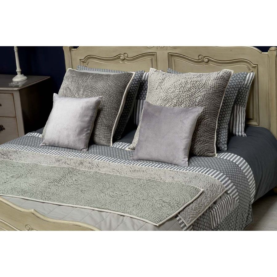 housses de coussins en lin et viscose 40x40 lot de 2 gris interior 39 s. Black Bedroom Furniture Sets. Home Design Ideas