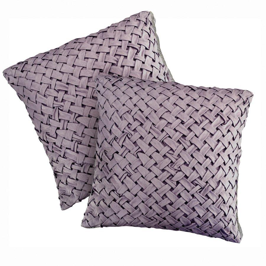 Housses de coussins en coton 40x40 lot de 2 violet - Housses de coussin 60x60 ...