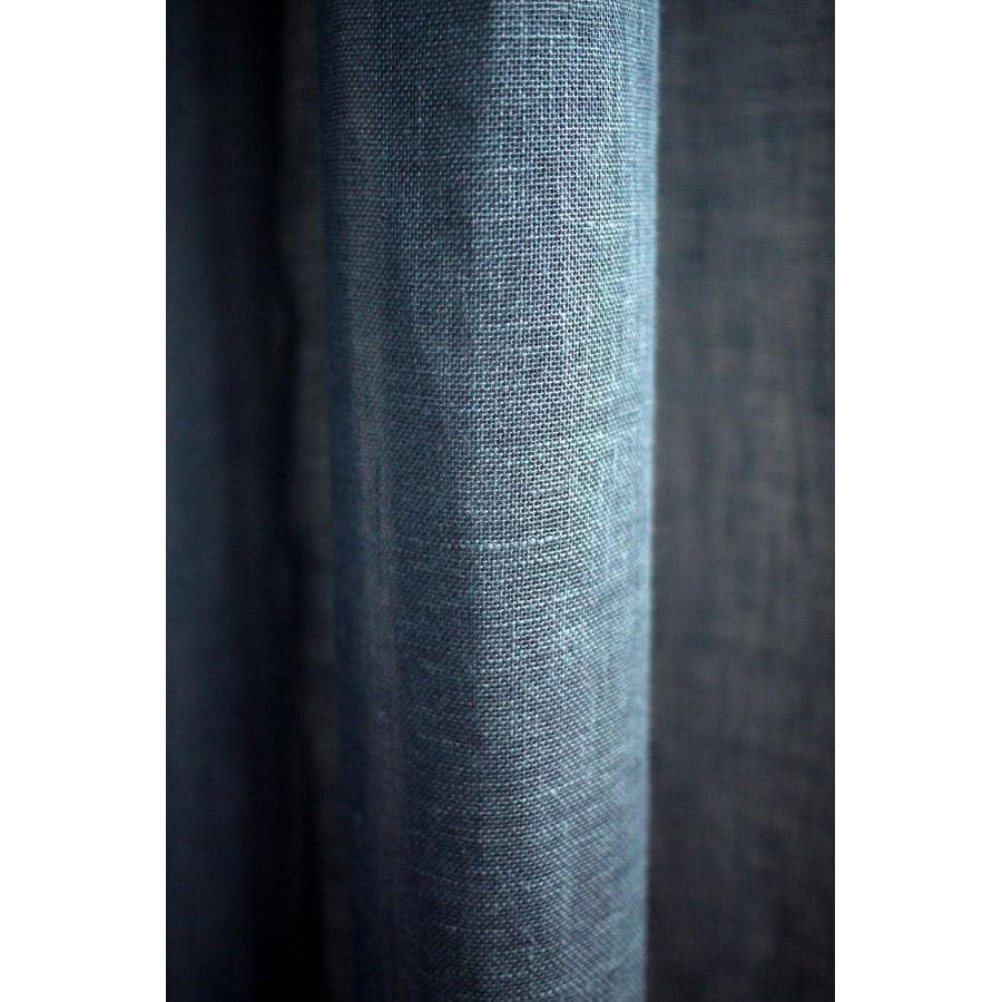 rideau en lin 140x270 bleu interior 39 s. Black Bedroom Furniture Sets. Home Design Ideas