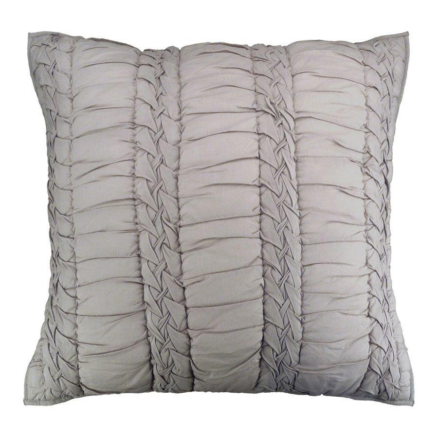 housse de coussin en coton 60x60 gris interior 39 s. Black Bedroom Furniture Sets. Home Design Ideas