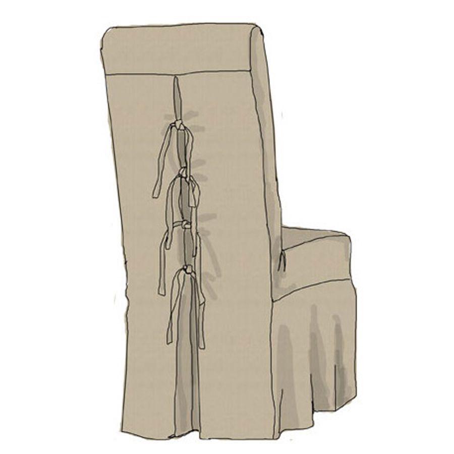 Meubles salle manger interior 39 s meubles en bois pour - Housse de chaise en lin ...