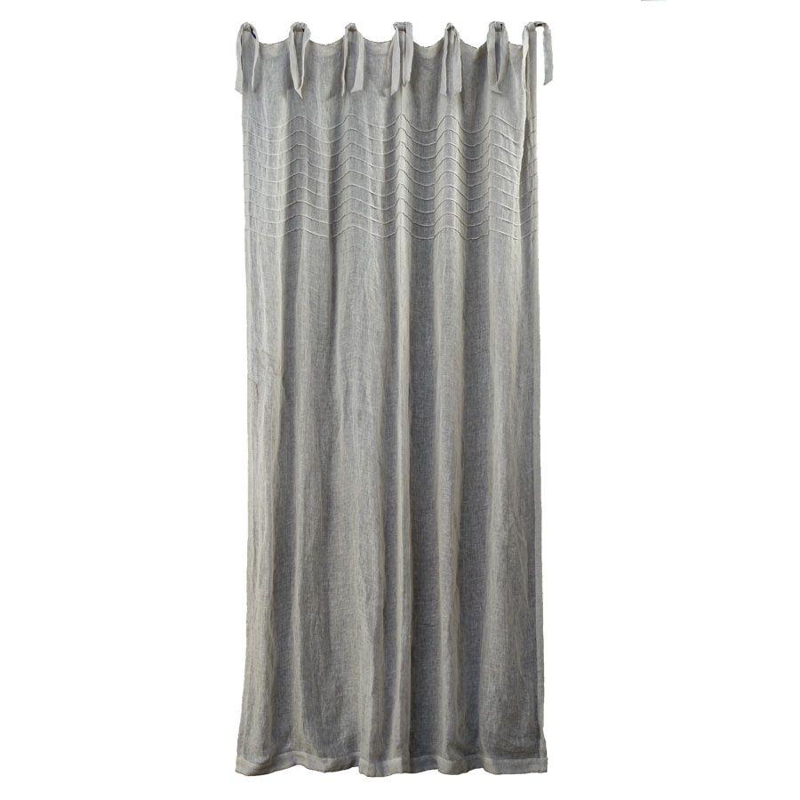 rideau en gaze de lin 140x270 gris interior 39 s. Black Bedroom Furniture Sets. Home Design Ideas