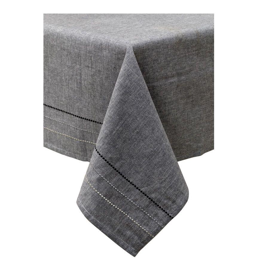 nappe en coton 180x180 gris interior 39 s. Black Bedroom Furniture Sets. Home Design Ideas