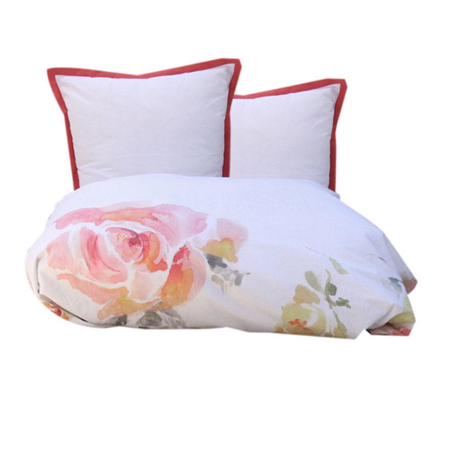 housse de couette 2 taies d 39 oreiller en coton 240x260 blanc interior 39 s. Black Bedroom Furniture Sets. Home Design Ideas