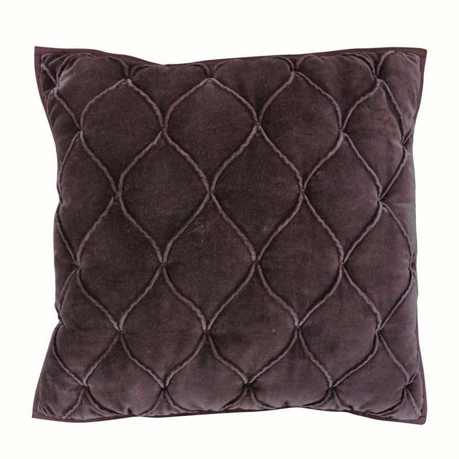 housse de coussin en coton velours 40x40 violet interior 39 s. Black Bedroom Furniture Sets. Home Design Ideas