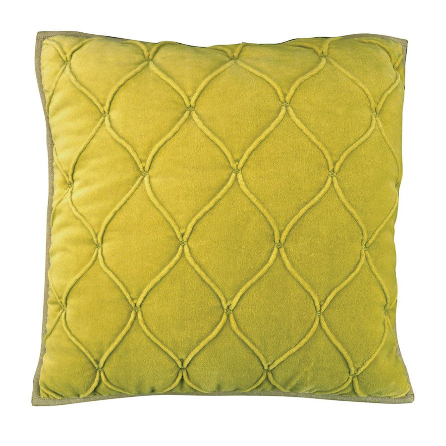 housse de coussin en coton velours 40x40 jaune interior 39 s. Black Bedroom Furniture Sets. Home Design Ideas