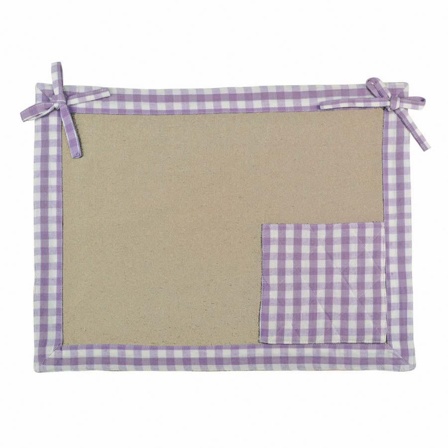 Set de table en coton et lin 45x35 violet interior 39 s - Set de table en lin ...