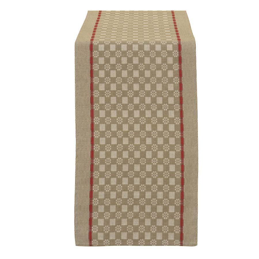 chemin de table en coton 150x40 beige interior 39 s. Black Bedroom Furniture Sets. Home Design Ideas