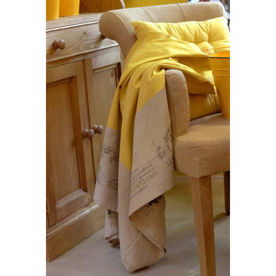 nappe en coton et lin 150x150 beige interior 39 s. Black Bedroom Furniture Sets. Home Design Ideas