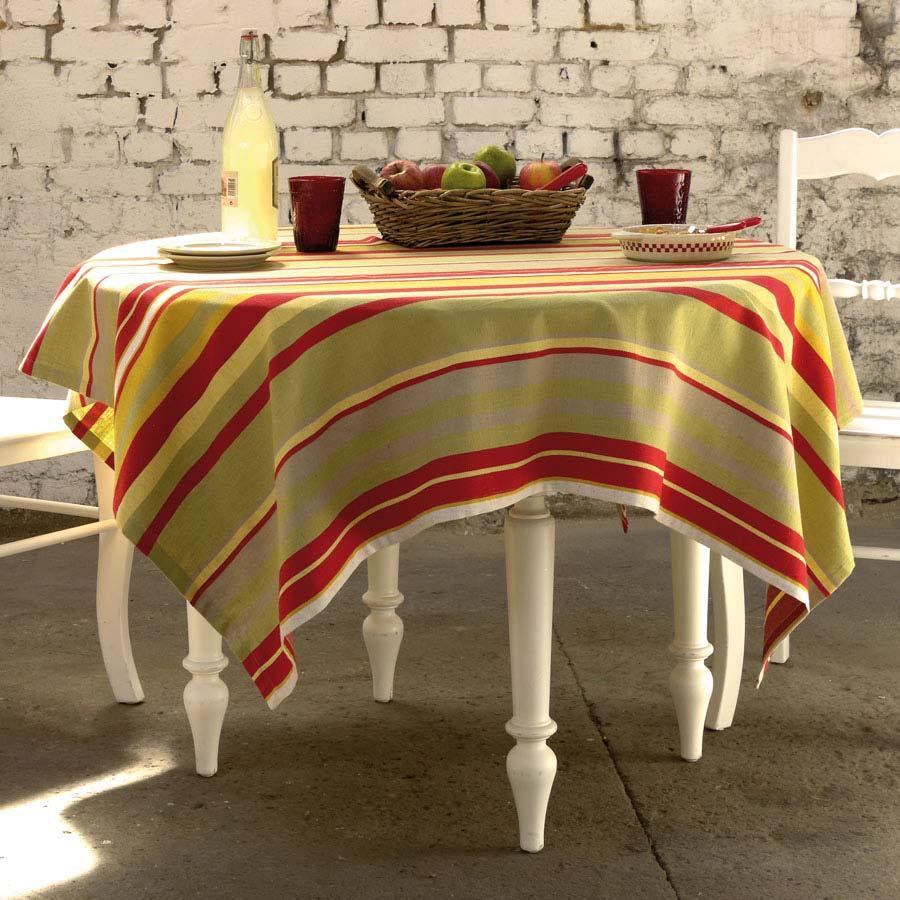 nappe en coton et lin 150x150 rouge interior 39 s. Black Bedroom Furniture Sets. Home Design Ideas
