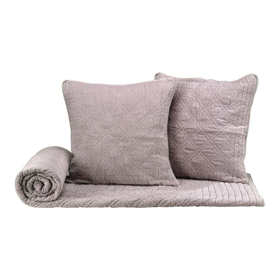 boutis 2 taies en coton 220x250 beige interior 39 s. Black Bedroom Furniture Sets. Home Design Ideas