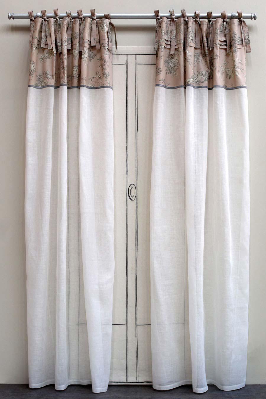 voilage en coton et lin 140x250 blanc interior 39 s. Black Bedroom Furniture Sets. Home Design Ideas