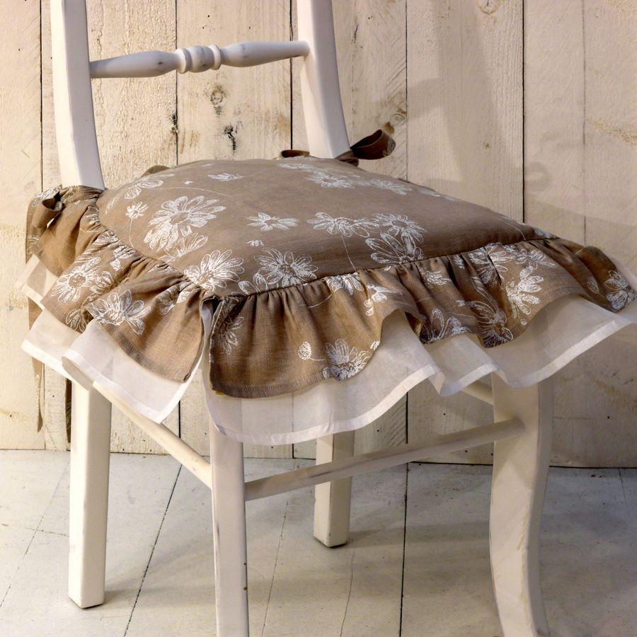 galette de chaise en coton 40x40 beige interior 39 s. Black Bedroom Furniture Sets. Home Design Ideas