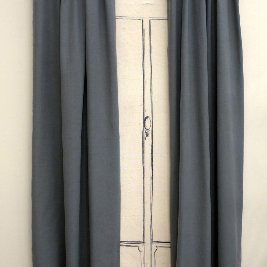 Rideaux nouettes en coton et lin 110x250 lot de 2 gris interior 39 s for Soldes rideaux lin