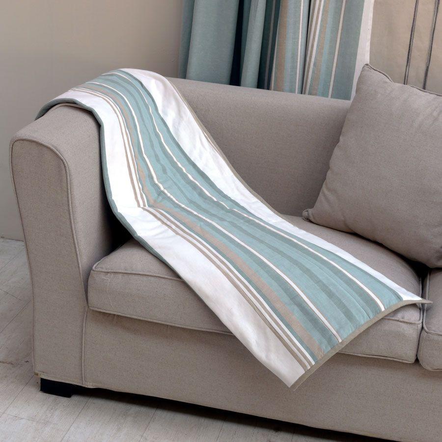 boutis en coton et lin 140x200 bleu interior 39 s. Black Bedroom Furniture Sets. Home Design Ideas