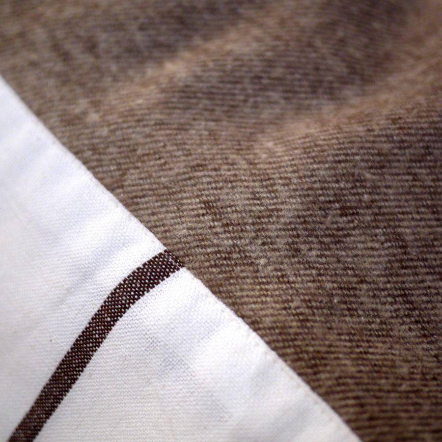 plaid en coton 130x180 marron interior 39 s. Black Bedroom Furniture Sets. Home Design Ideas